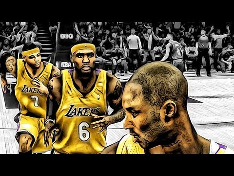 NBA 2k13 MyCAREER - Will LeBron James and/or Carmelo Anthony Join the Lakers? Kyrie Irving Injured