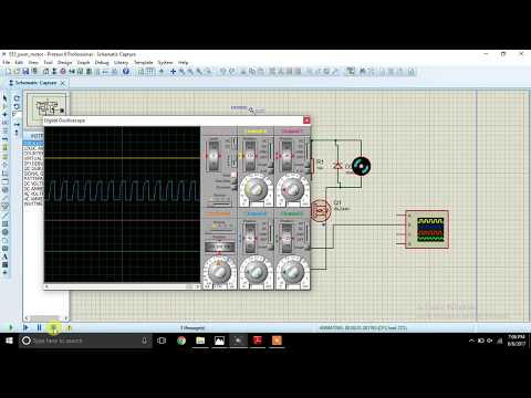 555 timer pwm based motor control in proteus