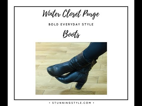 Winter Closet Purge Part 4 - Boots
