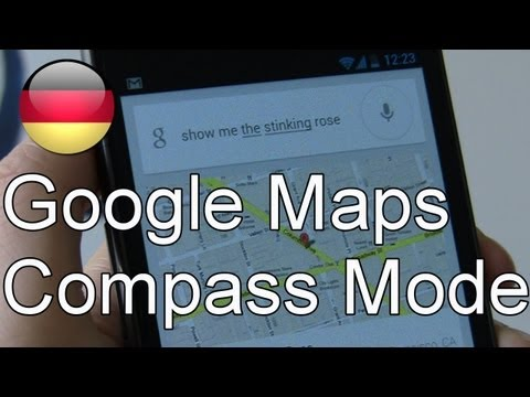 Google Maps Inside Compass Modus im Test unter Android Jelly Bean