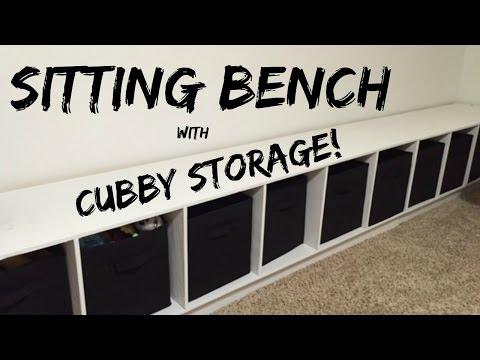 JWF- Sitting Bench w/ Cubby Storage!
