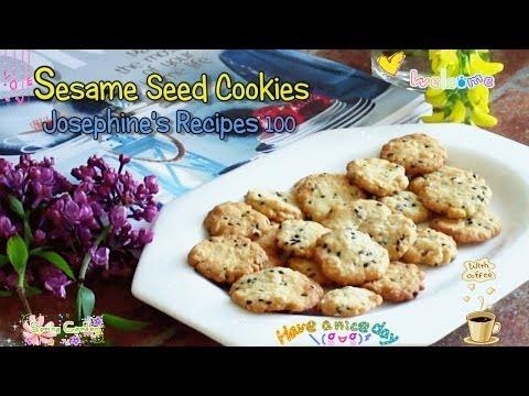 How to Make Crispy Sesame Seed Cookies 香脆芝麻曲奇 - JosephineRecipes.co.uk