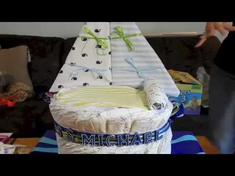 How to make a Sail Boat diaper cake, Step by Step Nautical Theme Cake