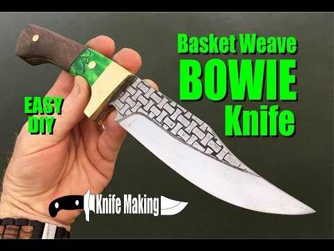 How to make a Bowie Knife with Celtic Basket Weave blade etching
