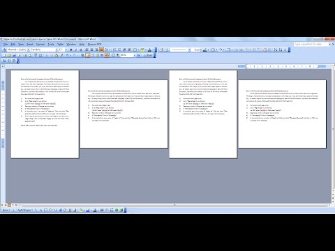 How to Do Portrait and Landscape in Same MS Word Document in All Version
