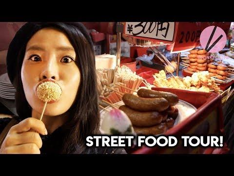FUN Japanese Street Food Mukbang in China Town in Kobe!