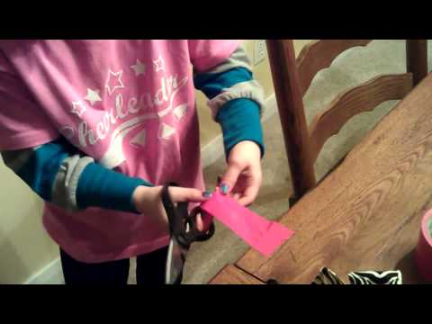 How to make a duck tape cheer bow