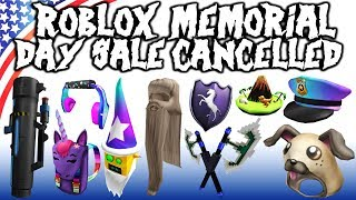 ROBLOX memorial day sale 2020 will not happen? Leaks?