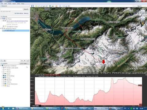 As in Google Earth to see the route elevation profile