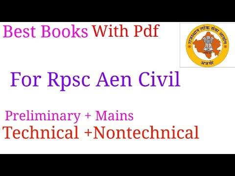 Best Books for Rpsc Aen Civil Technical nontechnical Hindi Rajasthan gk Social aspect of engineering