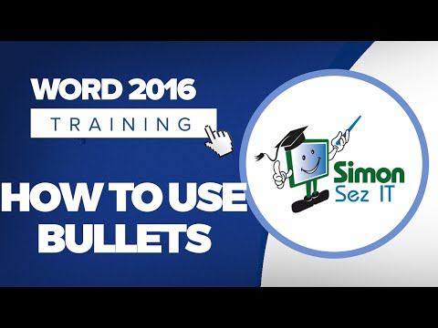 How to Use Bullets in Microsoft Word 2016