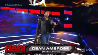 Dean Ambrose gets drafted to RAW at Shake Up 10/4/17 HD
