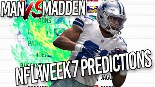 Predicting Every NFL Week 7 Winner | Man vs Madden 2017