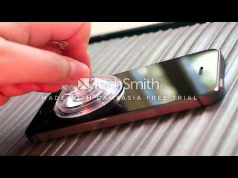 Remove the screen stain with a suction cup