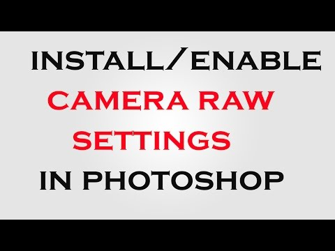 how to enable camera raw settings in photoshop cs6/cc photoshop tutorials
