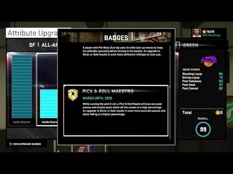 NBA 2K15 MyPlayer Rating and Badges