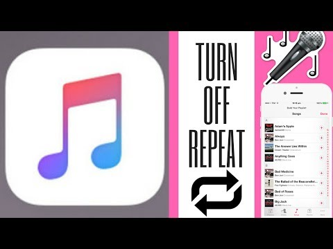 How to turn off repeat on iphone music