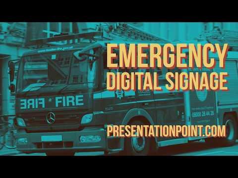 Emergency Digital Signage