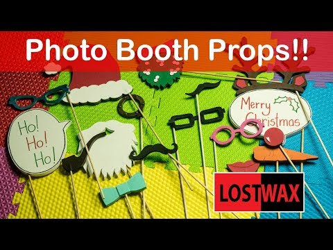 Make Your Own  Christmas Photo Booth Props From Foam. Free Printables!