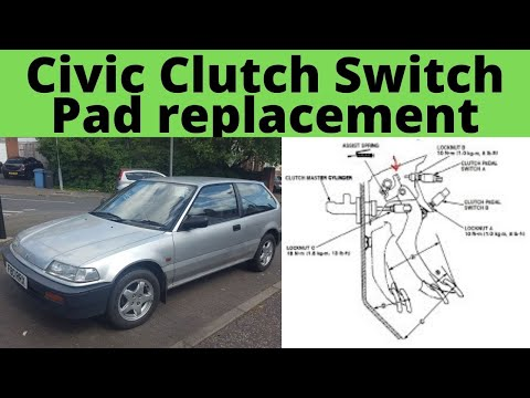 Honda Civic Clutch Pedal Start switch pad alternative replacement