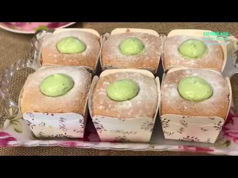 绿茶北海道杯子蛋糕 Green Tea Hokkaido Cupcakes