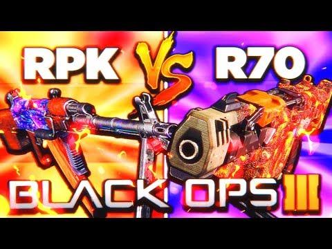 RPK vs R70 AJAX... THE ULTIMATE FACE OFF! 😱 (Black Ops 3 New DLC Weapon Update)