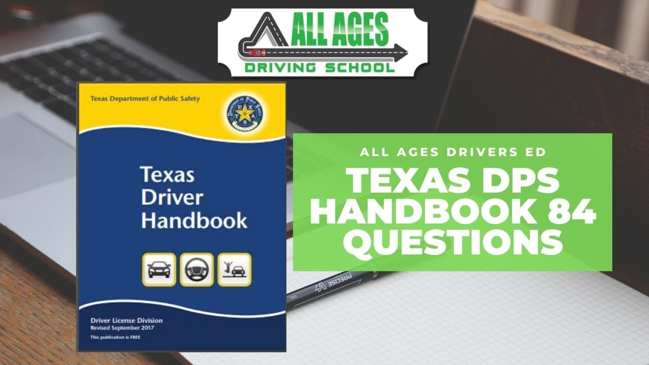 Texas DPS Drivers Handbook 84 Questions with Answers