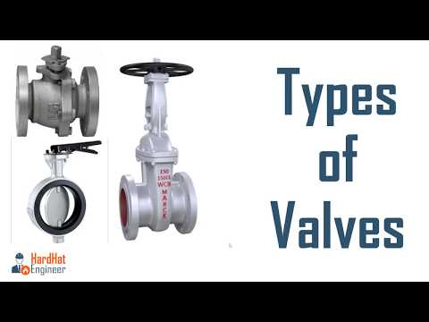 Types of Valve used in Piping - Learn about 9 Types of Valves