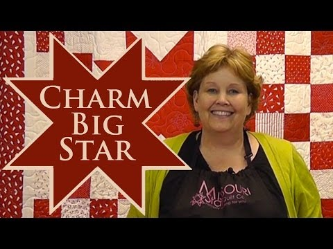 Charm Big Star Quilt- Quilting With Charm Packs!