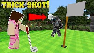 Minecraft: GOLF TRICK SHOT!! - MASTER