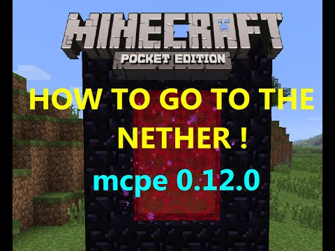 [MCPE 0.12.0] HOW TO BUILD THE NETHER PORTAL