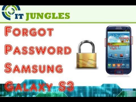Forgot Password Samsung Galaxy S3 (Hard Reset)