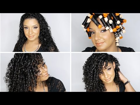 How To: Perfect Perm Rod Set On Natural Curly Hair Tutorial