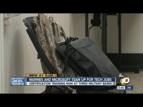 Microsoft training program helping veterans as they transition out of military