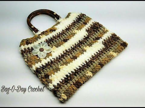 How To Crochet - EASY CROCHET HANDBAG | Textural Layers | BAGODAY CROCHET Tutorial  #468