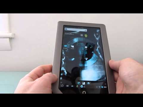 NOOK Tablet booting CyanogenMod 7 from an SD card