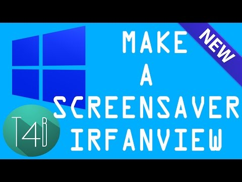 how to make a screensaver using irfanview