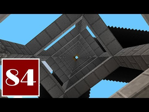 Minecraft Let's Play - 84 - An Uplifting Project: Flying Machine Elevator for the Creeper Farms
