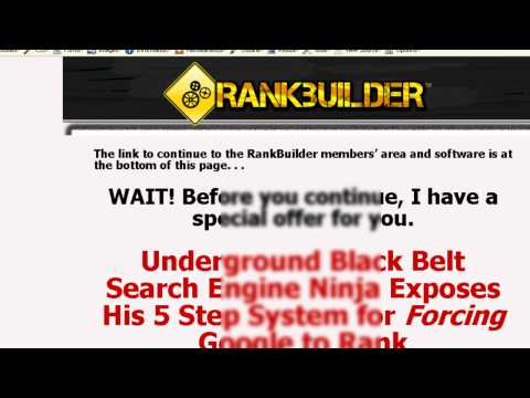 Rank Builder Review & Special Discount  By Alex Goads 100%