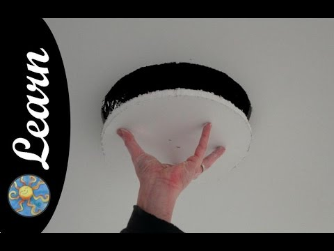 drywall tips : cutting a hole in the ceiling for speakers
