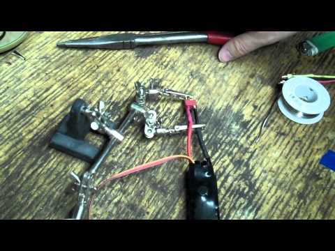 How to Solder thick wire to a lipo battery or speed control ESC