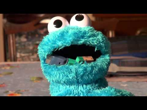 Cookie Monster meets Minecraft Steve and Eats Him  lol   funny and crazy !!