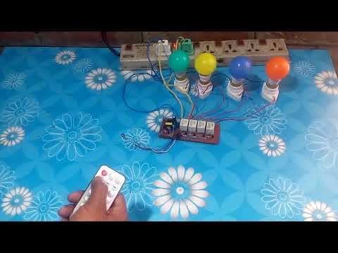 IR Remote 4 Channel Relay Switch On/Off.