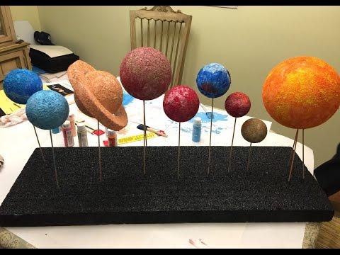 Brian & Aunt Julie Build Our Solar System