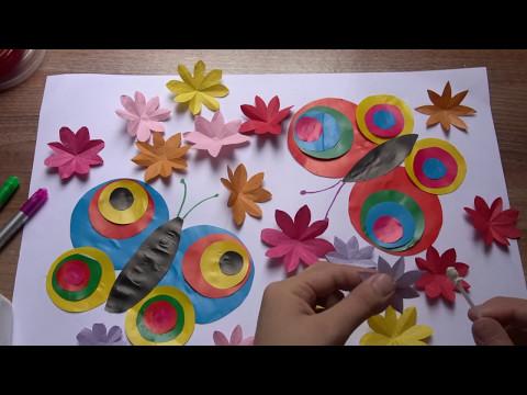 Butterfly - Paper art, cutting animals, cute!