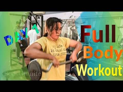 Full body workout ( Day 1 ) Train to Tone Weight loss for women ( Hindi )