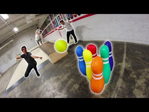 INFLATABLE BOWLING TRICK SHOTS 3!