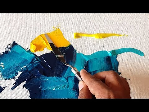 EASY and Colorful / Abstract painting / Acrylics / Palette knife / (Demonstration)