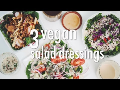 3 VEGAN SALAD DRESSINGS | hot for food