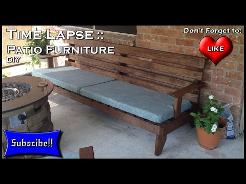 How to Build Patio Furniture Time Lapse